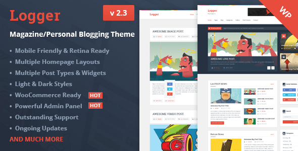 logger-magazinepersonal-blogging-theme-Header