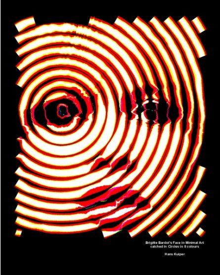 Brigitte Bardot's Face in Minimal Art